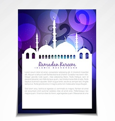 stylish shiny ramadan festival template vector image