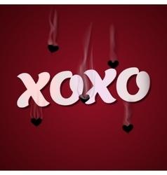 XOXO Cupid shoots bullets of hearts vector image