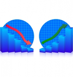 business failure and growth graphs vector image