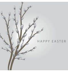 Easter vintage card vector image vector image