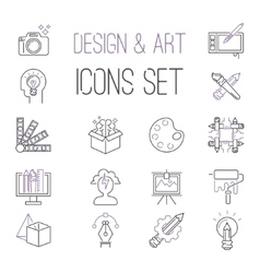 Graphic design sign icons thin outline vector image vector image