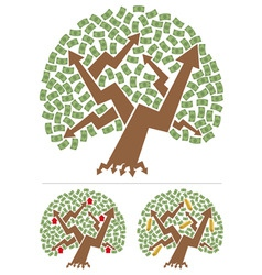 investments tree vector image vector image
