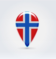 Norwegian icon point for map vector image vector image
