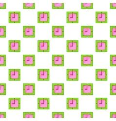Square clock pattern cartoon style vector