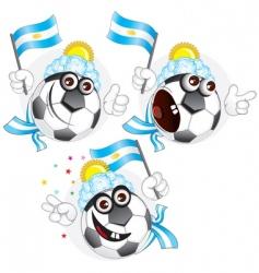 argentinian cartoon ball vector image vector image