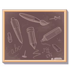 background of stationery vector image