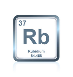 chemical element rubidium from the periodic table vector image vector image