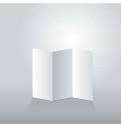 Folded sheet of paper three turn vector image
