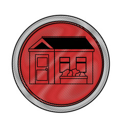 isolated scribble home vector image vector image