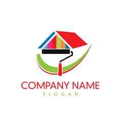 paint company logo vector image vector image