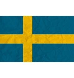 Sweden paper flag vector
