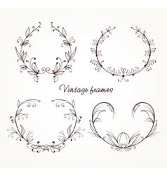vintage elements for design vector image