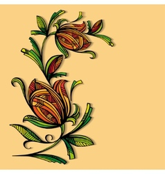 Abstract floral pattern on a warm background vector image vector image