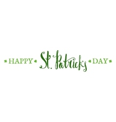 Happy St Patricks day lettering vector image vector image