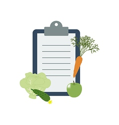 Healthy food and Diet planning vector image vector image