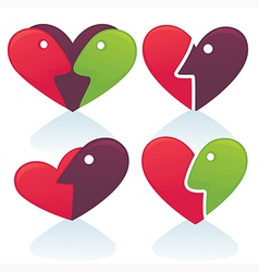 love emblems vector image vector image