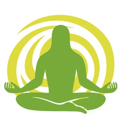 man figure meditating symbol vector image