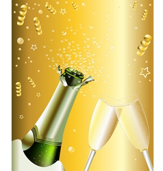 New Years Invitation vector image vector image