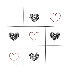 Tic-Tac-Love vector image