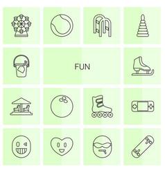 14 fun icons vector