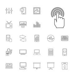 22 display icons vector image