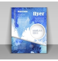 abstract design brochure or flyer vector image