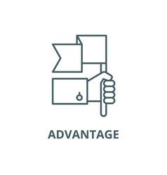 Advantage line icon advantage outline vector