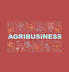 Agriculture business word concepts banner vector
