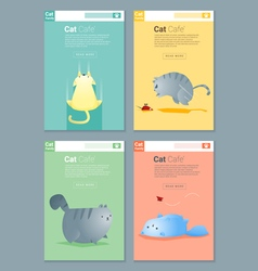Animal banner with cat story for web design 1 vector