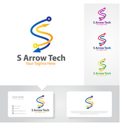 arrow logo business vector image