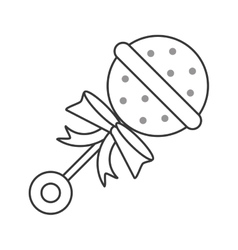 Baby toy rattle icon vector