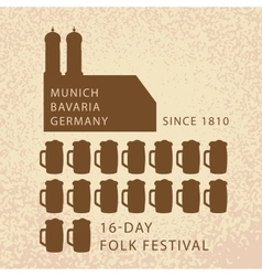 Beer infographics of Oktoberfest in Munich vector image