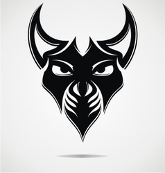Black Evil Mask vector image