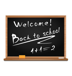 blackboard back to school vector image