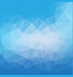 blue poly abstract background vector image