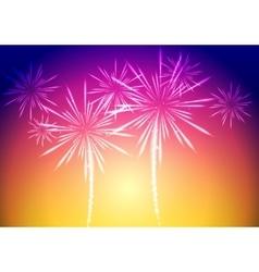 Bright fireworks background vector