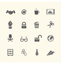 Business stationery supplies internet collection vector image