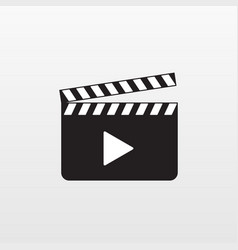 Camera action icon isolated movie clap mo vector