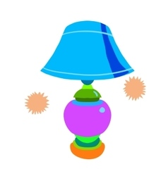Cartoon lamp flat icon vector image