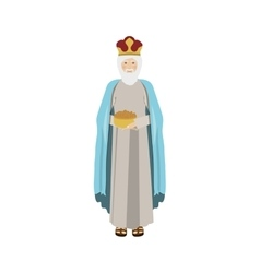 colorful figure human a wise man gaspar vector image