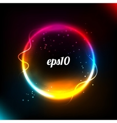 Colorful glowing circle background vector