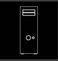 computer case or system unit white color icon vector image