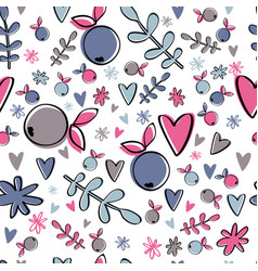 Cute berry pattern colorful simple background vector