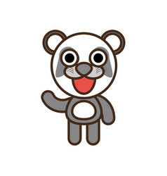 cute panda toy kawaii image vector image