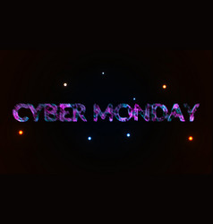 cyber monday in the plexus style lines connected vector image