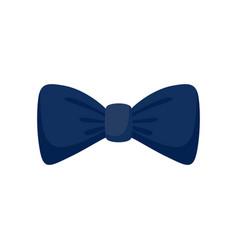 dark blue bow tie icon flat style vector image