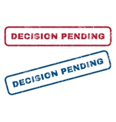 Decision Pending Rubber Stamps vector image