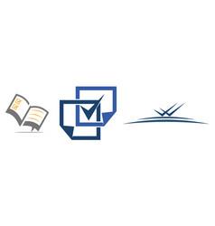 document verified template set vector image
