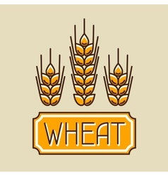 Emblem with wheat Agricultural image natural vector image
