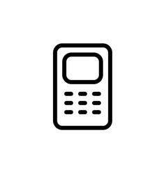flat single line phone icon symbol sign logo vector image